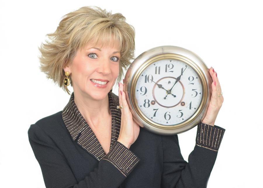 Laura Stack Black 12 half shot with clock