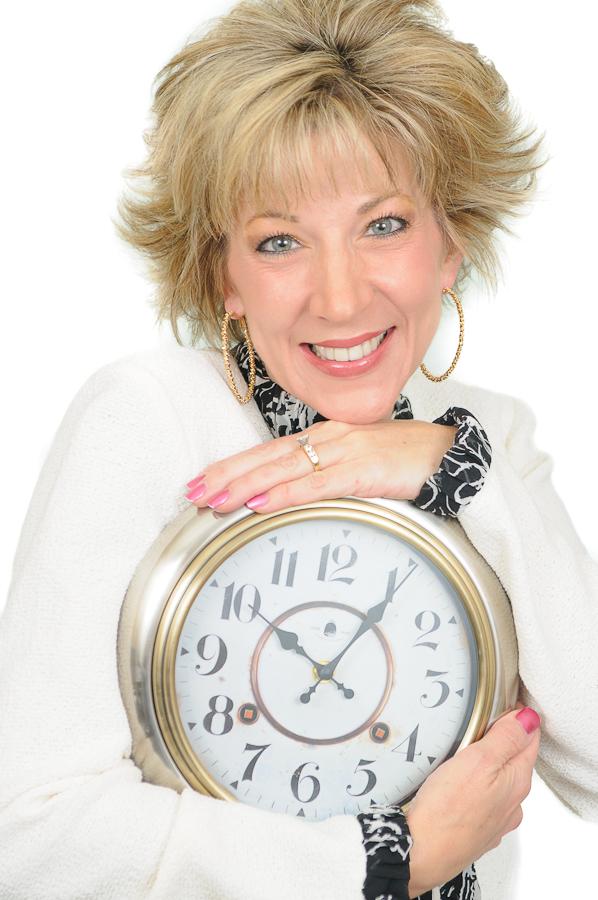 Laura Stack White-Black 31 half shot with clock