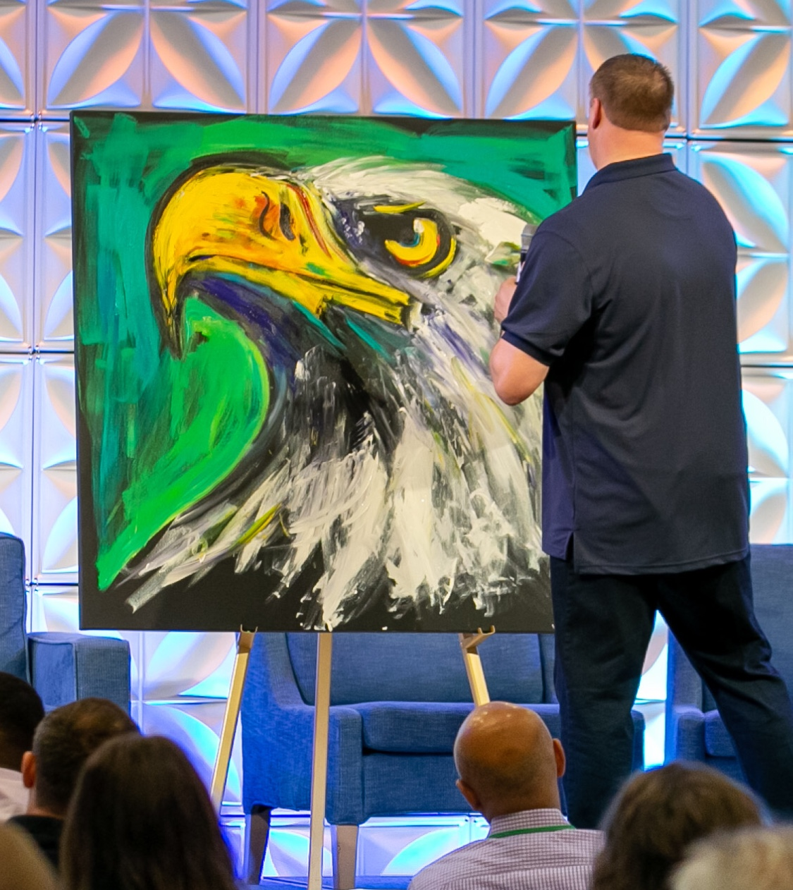 Sam Glenn Performance Painting- Eagle