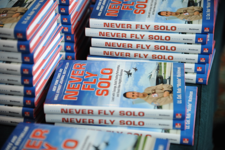 Never Fly Solo book group photo small
