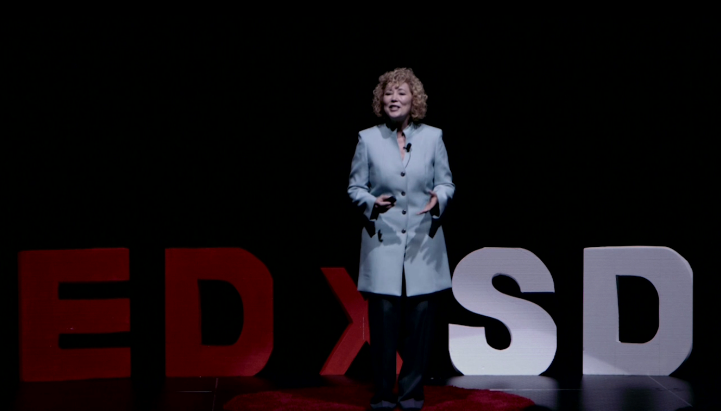 Karyn Buxman On Stage at TEDx