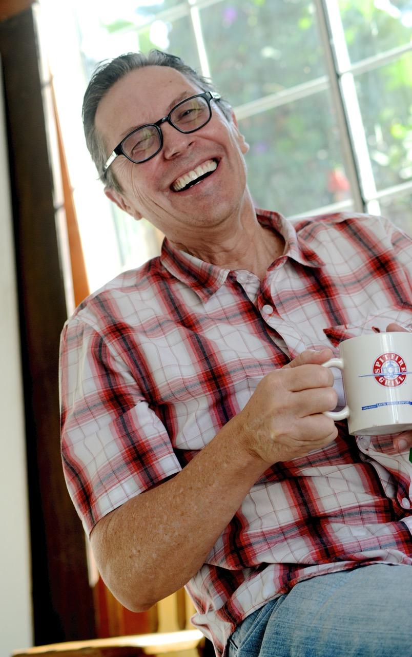 Nick Arnette having coffee